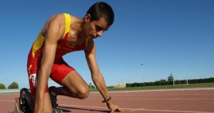 El atleta Lorenzo Albaladejo. Fuente: AD