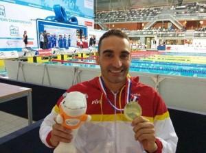 Miguel Luque, campeón de Europa. Fuente: AD