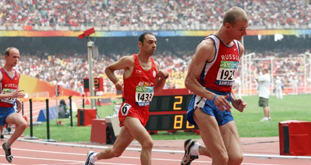 El atleta González 'Santa' durante una carrera. Fuente: AD