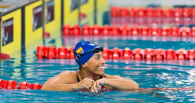 La nadadora aragonesa Teresa Perales en el Europeo. Fuente: IPC Swimming Kees-Jan von Overbeeke