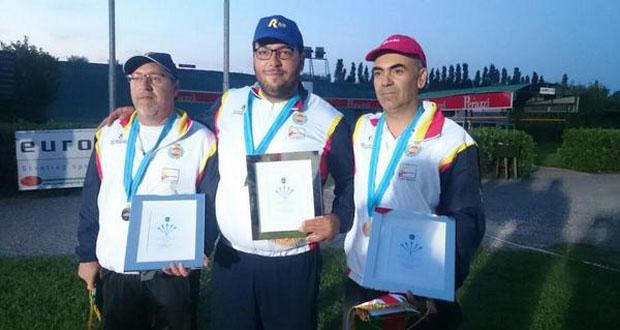 José Antonio Arjona, Alberto Fernández y Gregorio Fuentes. Fuente: Rfedeto
