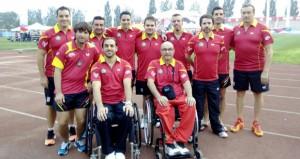 El equipo español de tenis de mesa. Fuente: RFETM