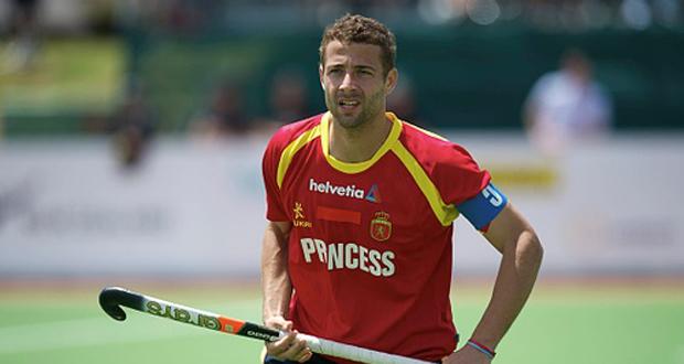 Santi Freixa en uno de sus últimos partidos con la selección española. Fuente: RFEH