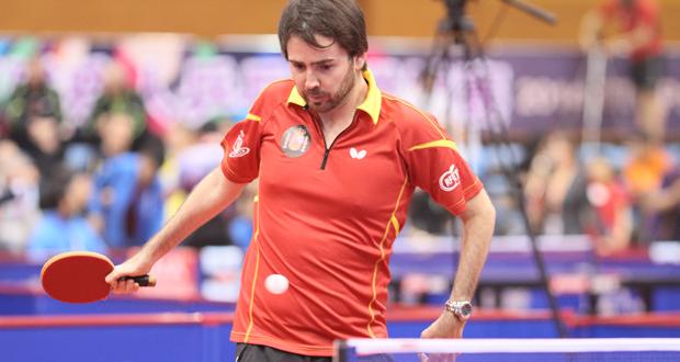 El tenista sevillano Álvaro Valera durante el Mundial de tenis de mesa. Fuente: ITTF World