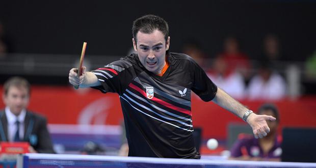 El palista Álvaro Valera, campeón del mundo de tenis de mesa. Fuente: RFETM