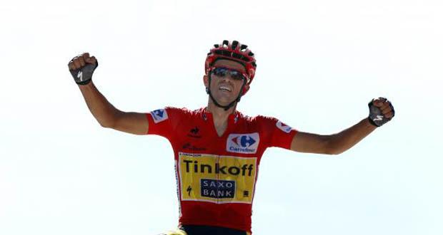 El ciclista Alberto Contador, campeón de la Vuelta a España 2014. Fuente: RFEC