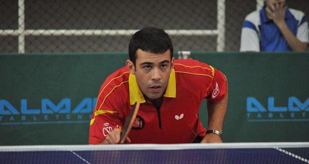 El jugador español de tenis de mesa Endika Díez. Fuente: FATM