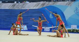 El quinteto español de gimnasia. Fuente: Oleg Naumov