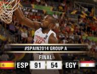 España progresa adecuadamente frente a Egipto
