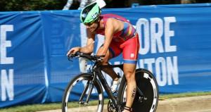 El triatleta andaluz en una carrera. Fuente: AD
