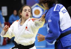 Julia Figueroa en un combate