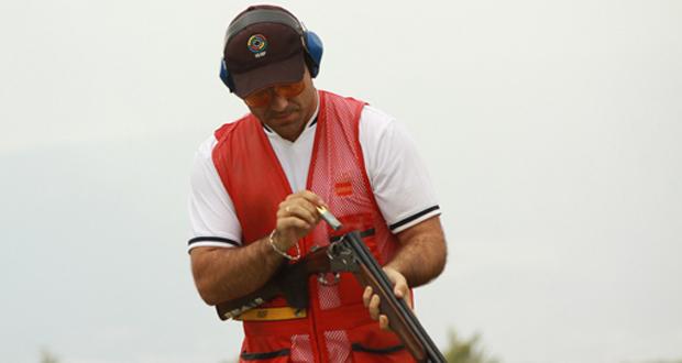 El tirador de skeet 'Kako' Aramburu durante el Mundial de tiro en Las Gabias (Granada). Fuente: RFEDETO