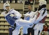 Gran nivel de los taekwondistas sobre el tatami de Leganés