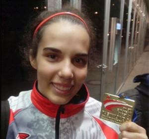 Marta con el oro del Europeo sub 21. Fuente: AD