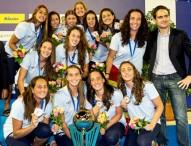 Las 'miniguerreras' acuáticas logran el bronce en el Europeo