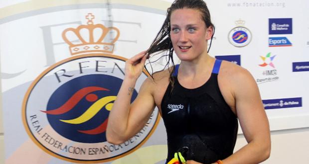 Mireia Belmonte en el campeonato de España en Palma. Fuente: RFEN