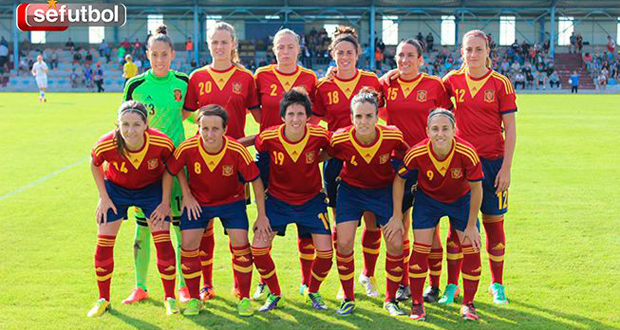 El equipo titular de la selección española en el duelo frente a República Checa. Fuente: Sefútbol
