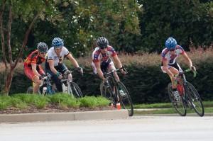 Grupo de cabeza en la prueba de ruta con Acinas. Foto: AD