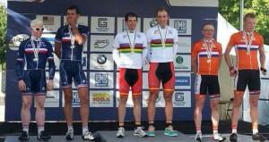 Noel-Carlos en el podio. Fuente: AD