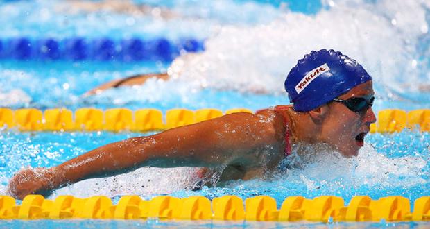 La nadadora española Mireia Belmonte, durante una competición. Fuente: FINA