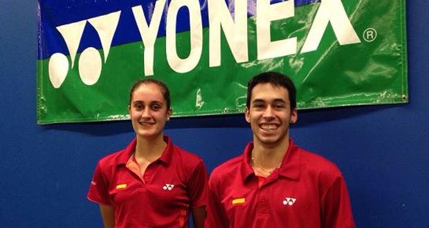 Los jugadores de bádminton Clara Azurmendi y Kike Peñalver. Fuente: badminton.es