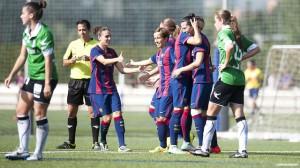 Las jugadoras del Barça. Fuente: Víctor Salgado-FCB