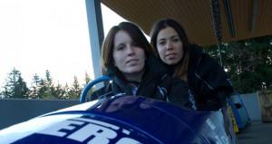 Bárbara y Cristina en el trineo. Fuente: Spanish Bobsleigh