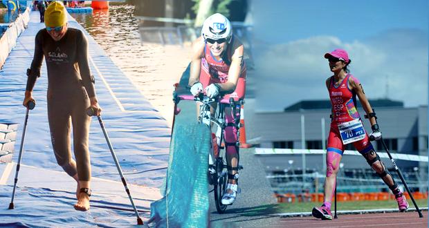 La española Rakel Mateo en las disciplinas de triatlón. Fuente: AD
