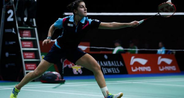 La campeona del mundo de bádminton, Carolina Marín. Fuente: badminton.es