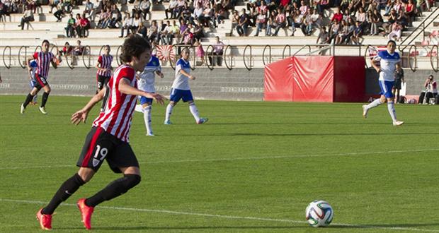 La jugadora del Athlétic Erika Vázquez durante un partido. Fuente: Athletic Club