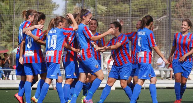 Las jugadoras del Levante celebran un gol. Fuente: Jorge Ramírez / UD Levante