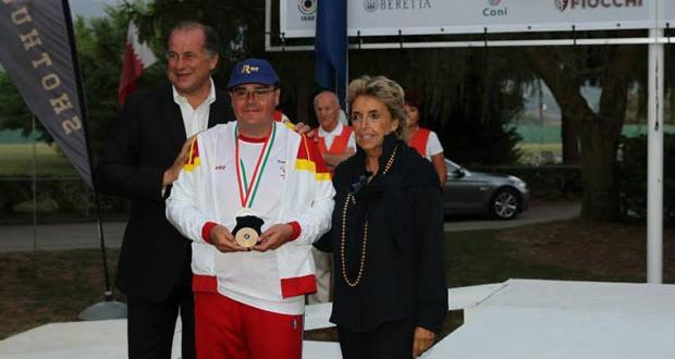 Jorge Montesdeoca Gutiérrez con la medalla de plata en el Gran Premio de Italia. Fuente: AD