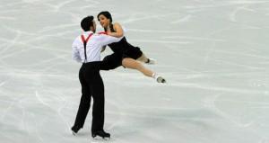La pareja española en los Juegos. Fuente: Fedhielo
