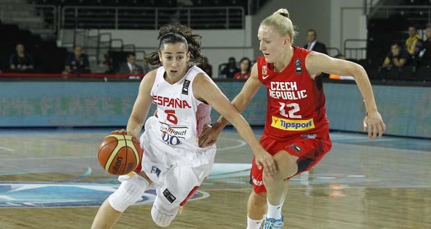 La base de la selección española, Silvia Domínguez. Fuente: Alberto Nevado