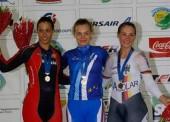 La ciclista Tania Calvo logra la plata en velocidad en el Europeo
