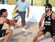 Los españoles pasan a la fase final del torneo de voley playa en Doha