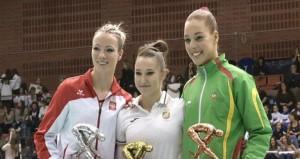 Roxana Popa en el podio. Fuente: AD
