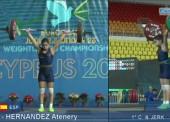 Atenery Hernández, bronce en el Europeo Júnior de Halterofilia