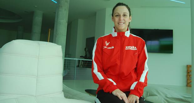 La jugadora de la selección española de balonmano, Macarena Aguilar, en el hotel Reserva del Higuerón. Fuente: Laura Pérez