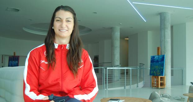 La jugadora de la selección de balonmano, Eli Chávez, en el hotel Reserva del Higuerón. Fuente: Laura Pérez