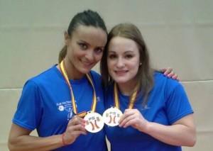 Estefanía y Alba, campeonas de España. Fuente: AD