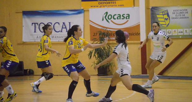 El Rocasa Gran Canaria sigue líder de la liga de balonmano femenino. Fuente: Rocasa