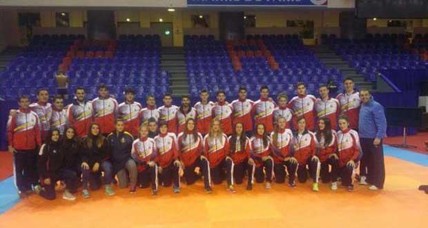 Equipo español. Fuente: Fetaekwondo