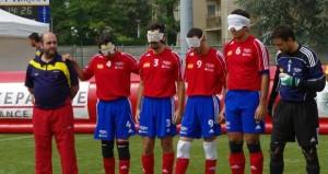 La selección de fútbol para ciegos. Fuente: T. Aubert