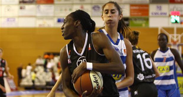 La jugadora de Girona, Bernice Mosby. Fuente: FEB