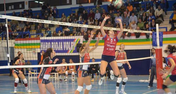 Partido entre el Haro Rioja Voley y el Avarca de Menorca. Fuente: Club Voleibol Haro
