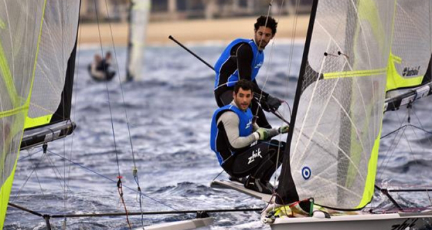 Los hermanos Carlos y Antón Paz, plata en la Copa del Mundo de vela en Abu Dhabi. Fuente: Jesús Renedo