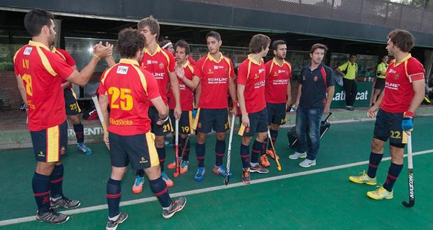 Los jugadores de la selección española de hockey hierba. Fuente: RFEH
