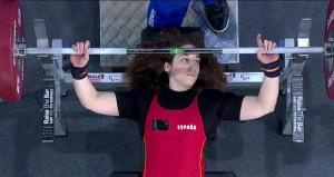 Loida Zabala en una competición. Fuente: AD