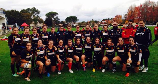 La selección femenina española de ruby 7. Fuente: Ferugby